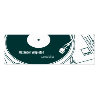 Old School Wax / Turntable Double-Sided Mini Business Cards (Pack Of 20)