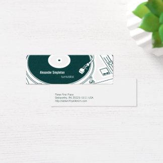 Old School Wax / Turntable Mini Business Card