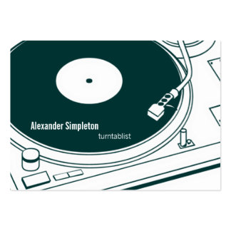 Old School Wax / Turntable Pack Of Chubby Business Cards