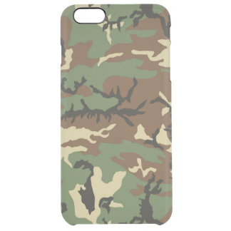 Old School Woodland Camo Uncommon Clearly™ Deflector iPhone 6 Plus Case