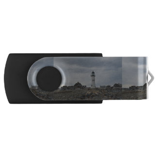 Old Scituate Lighthouse Swivel USB 2.0 Flash Drive
