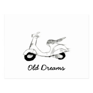Old Scooter Postcard