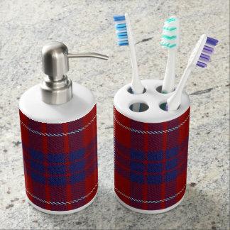 Old Scots Clan Hamilton Tartan Plaid Bathroom Set