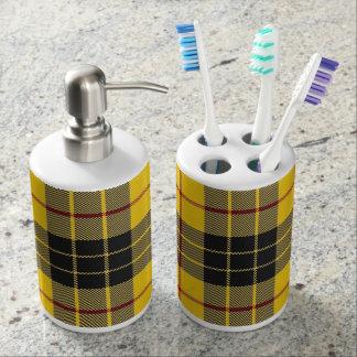 Old Scots Clan MacLeod Tartan Plaid Bathroom Set