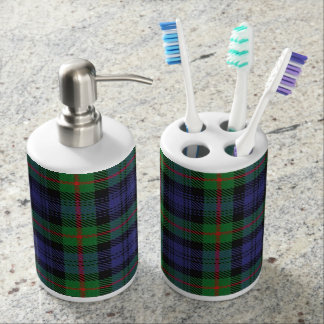 Old Scots Clan Murray Tartan Plaid Soap Dispenser And Toothbrush Holder