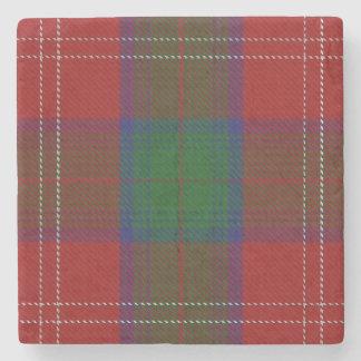 Old Scots Tavern Clan Chisholm Tartan Stone Coaster
