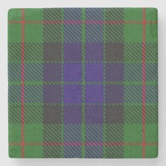 Old Scots Tavern Clan Gunn Tartan Stone Coaster