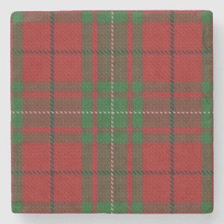 Old Scots Tavern Clan MacAulay Tartan Stone Coaster