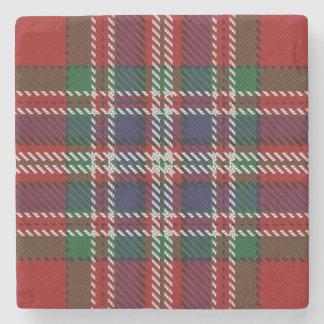 Old Scots Tavern Clan MacFarlane Tartan Stone Coaster