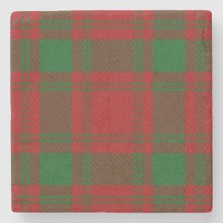 Old Scots Tavern Clan MacQuarrie Tartan Stone Coaster