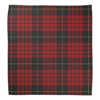 Old Scotsman Clan MacQueen Tartan Plaid Bandana