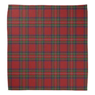 Old Scotsman Clan Stewart Royal Red Tartan Plaid Bandana