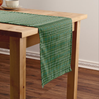Old Scottish Clan Currie Tartan Plaid Short Table Runner