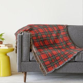 Old Scottish Tartan Throw Blanket