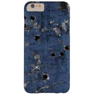 Old scratched metal with bullet holes iPhone case