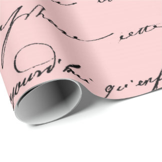 Old Script Paris Mauve Lilac Blush Pink Royal Wrapping Paper