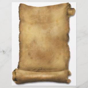 Old Scroll Paper Letterhead