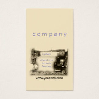 Old Sewing Machine Business Card