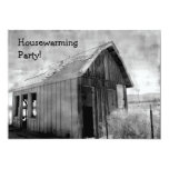 Old shack housewarming party 13 cm x 18 cm invitation card