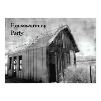 Old shack housewarming party card