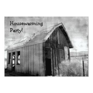 Old shack housewarming party invitation