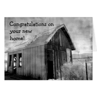 Old shack new home greeting card