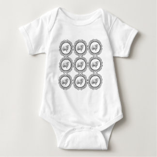 old sheep in bunch baby bodysuit