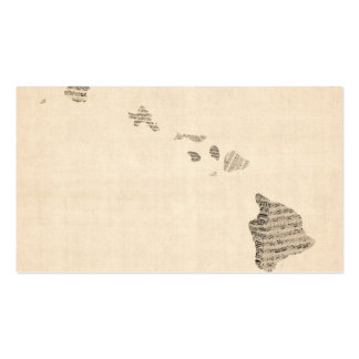 Old Sheet Music Map of Hawaii Business Card
