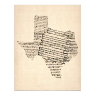 Old Sheet Music Map of Texas Announcement