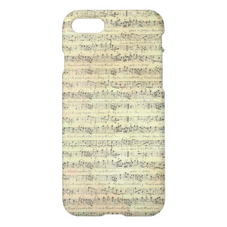 Old Sheet Music Note iPhone 7 Phone Case