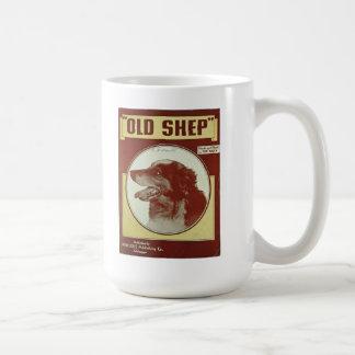 """OLD SHEP"" MUST FROM VINTAGE SHEET MUSIC COVER BASIC WHITE MUG"