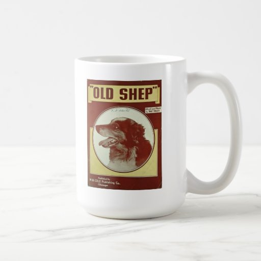 """OLD SHEP"" MUST FROM VINTAGE SHEET MUSIC COVER COFFEE MUGS"