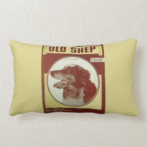 """OLD SHEP"" PILLOW GREAT FOR MUSIC ROOM!!"