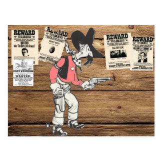 Old Sherrif With Gun Drawn Postcard