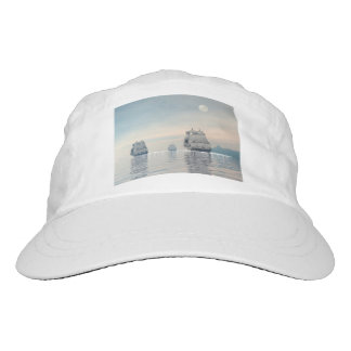 Old ships on the ocean - 3D render Hat