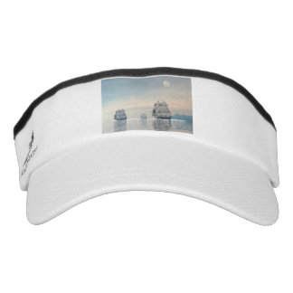 Old ships on the ocean - 3D render Visor