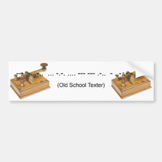 Old Shool Texter Bumper Sticker