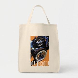 Old Skool Hot Rod. Grocery Tote Bag
