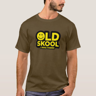 Old Skool - I Was There! Acid Smiley Rave - Brown T-Shirt