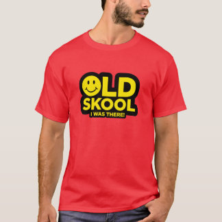 Old Skool - I Was There Shirt - Acid Smiley Red