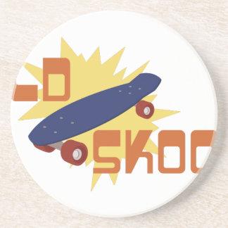 Old Skool Skateboard Drink Coasters