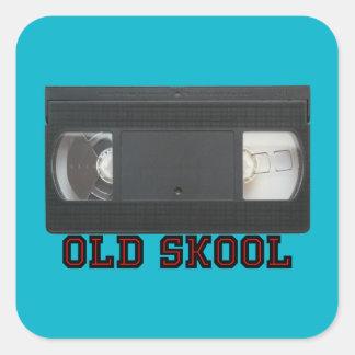 Old Skool - VHS Tape Square Sticker