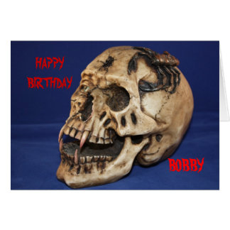 Old Skull Birthday  Card