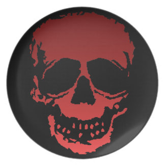 Old Skull red Plate