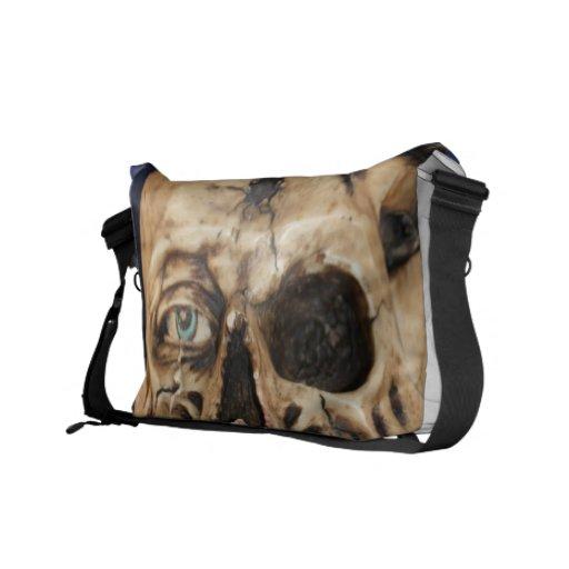Old Skull Rickshaw Messenger Bag
