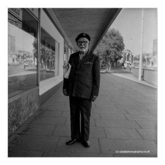 Old Soldier. Blackburn - 1983. Art Photo Poster
