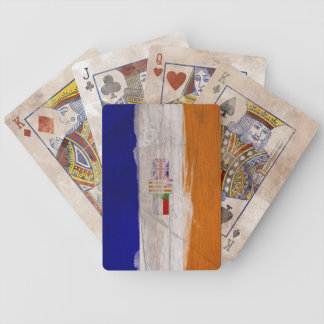 Old South African Flag Bicycle Playing Cards