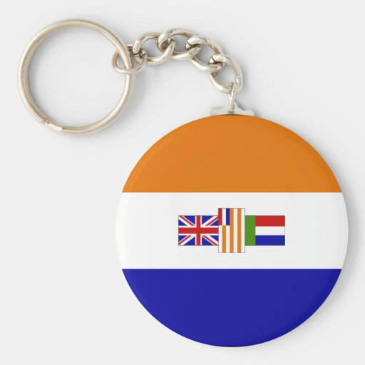 Old South African Flag Key Chain