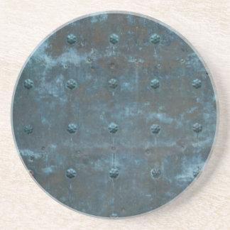 Old Spanish Copper Tarnished Metal Door Coaster