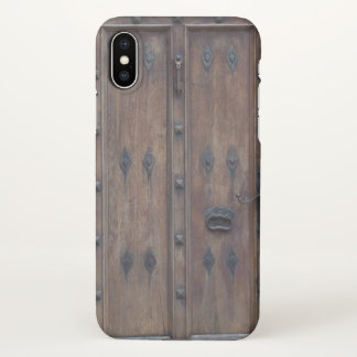 Old Spanish Wooden Door with Bolts iPhone X Case